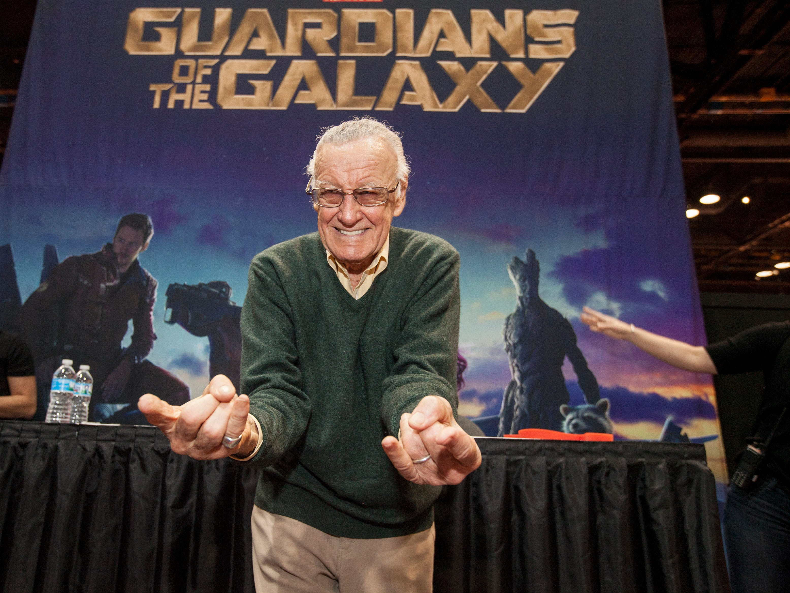 Comic book legend Stan Lee at the Chicago Comic & Entertainment Expo at McCormick Place in 2014 in Chicago.