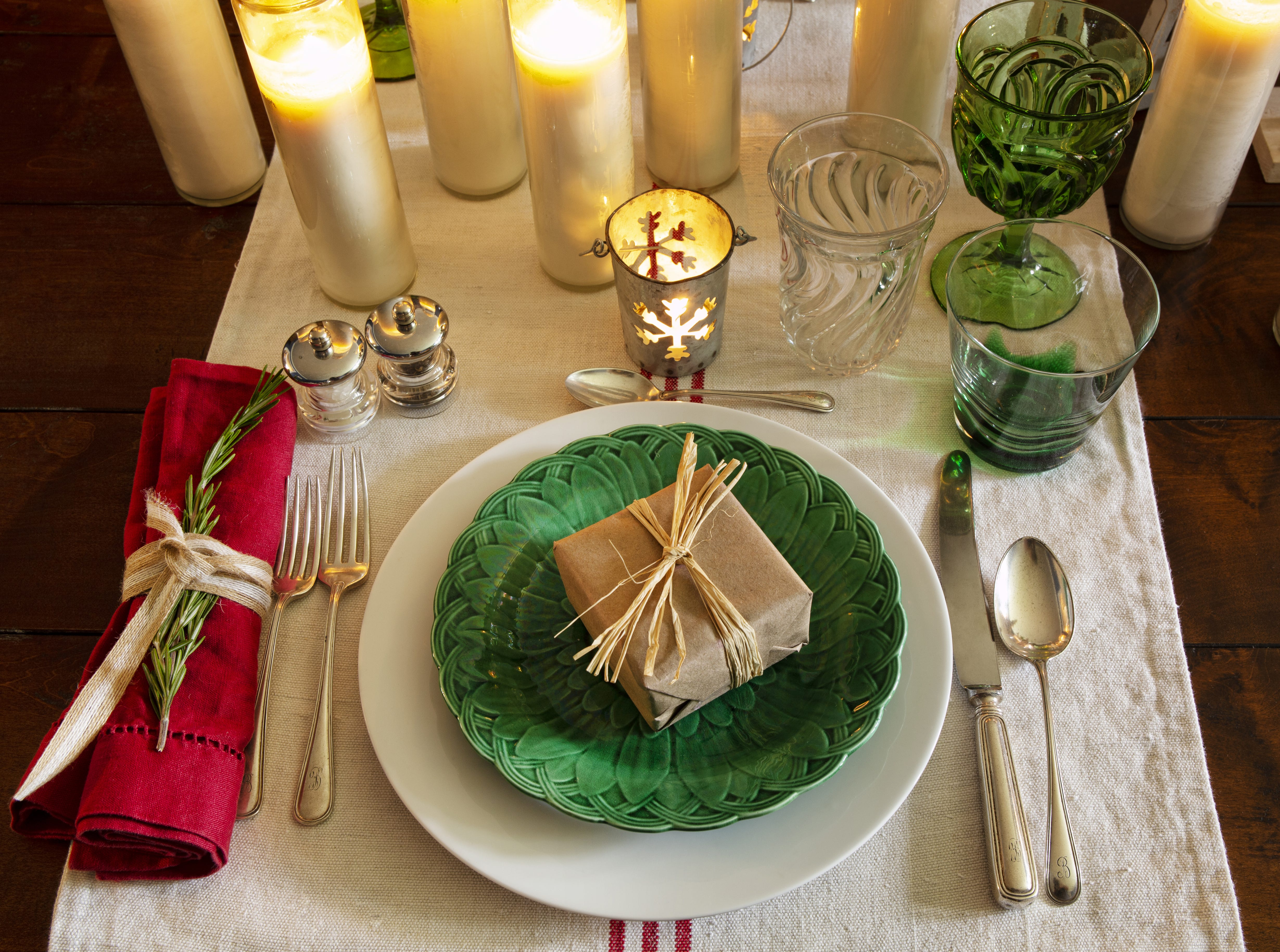 Holiday tables.
