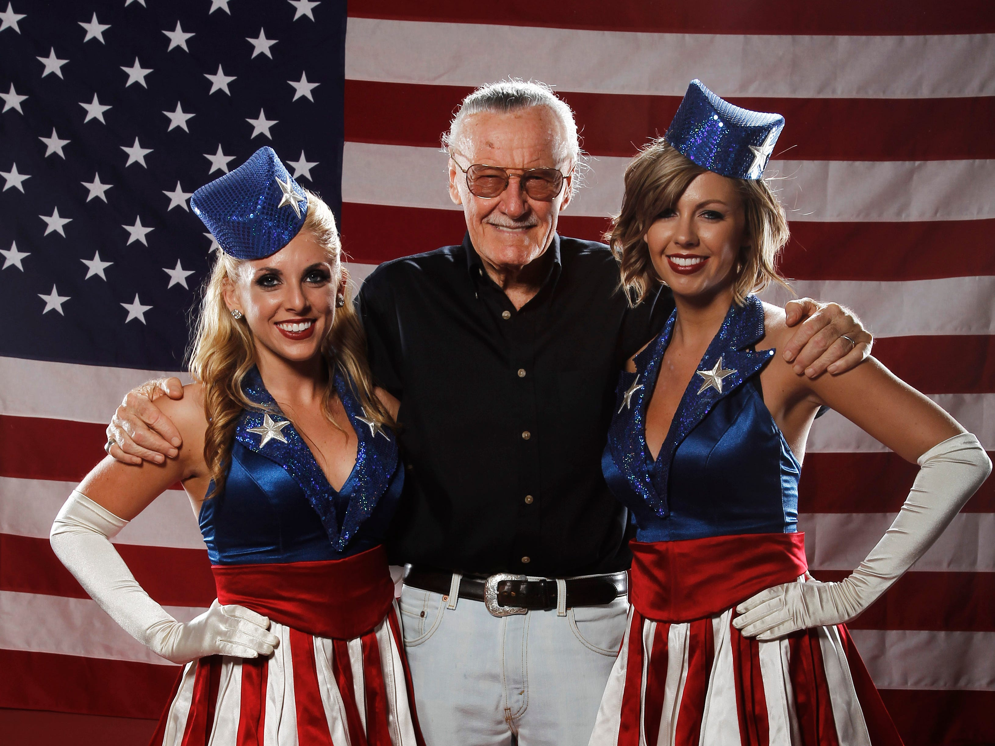 Stan Lee, poses for a portrait at the LMT Music Lodge during Comic Con in San Diego in 2011.