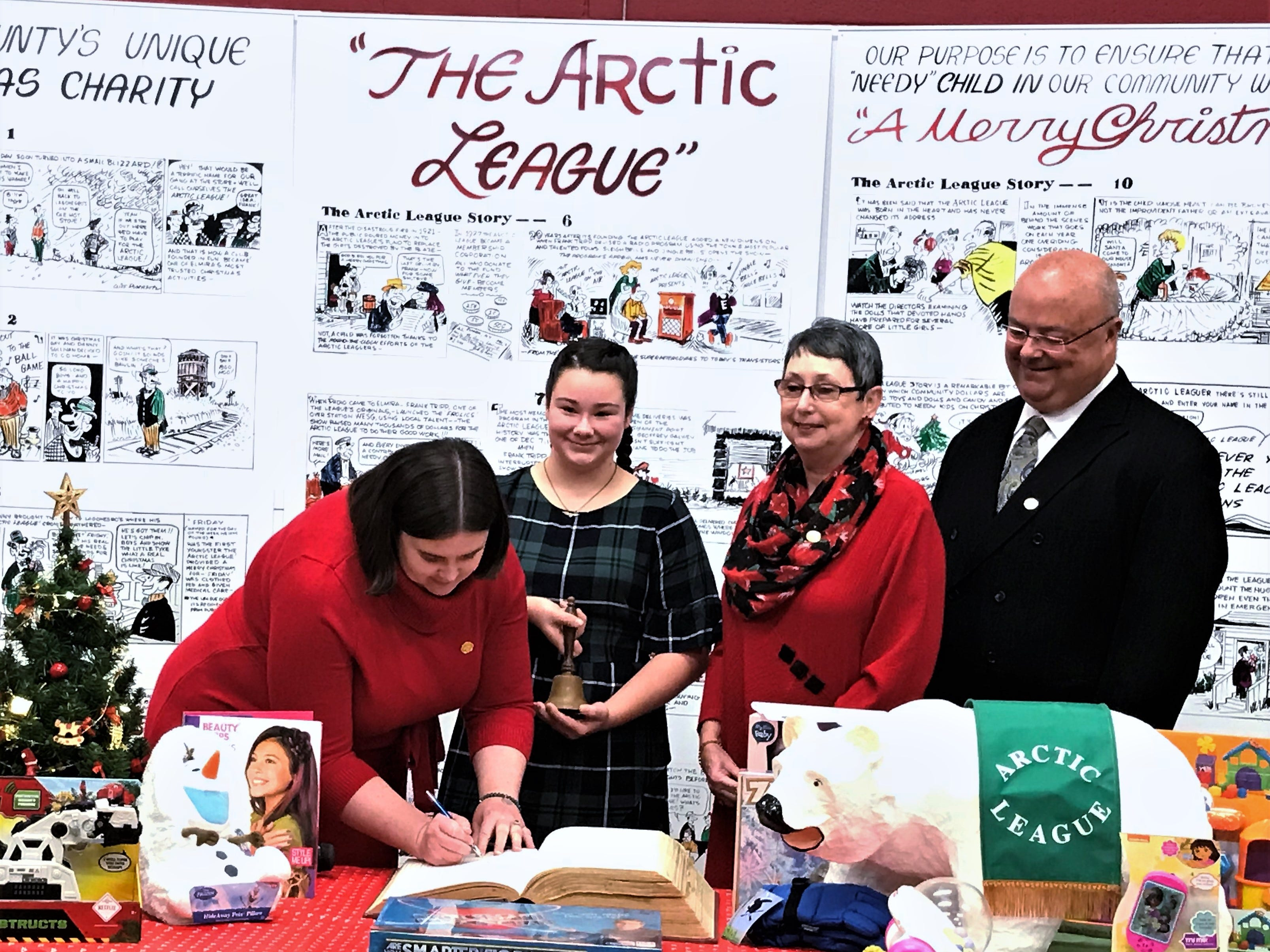Arctic League opens Big Book, kicks off Christmas appeal for donations