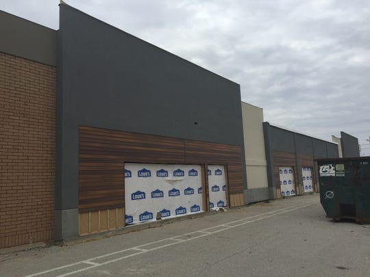The former Schnucks location at Washington Avenue and South Green River Road is being renovated for new uses.