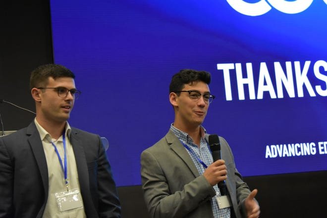 Derek Strauss (left) and Jonah Baer (right) took their initial idea in January of spreading Blockchain education to a reality by planning the first annual Collegiate Blockchain Conference.
