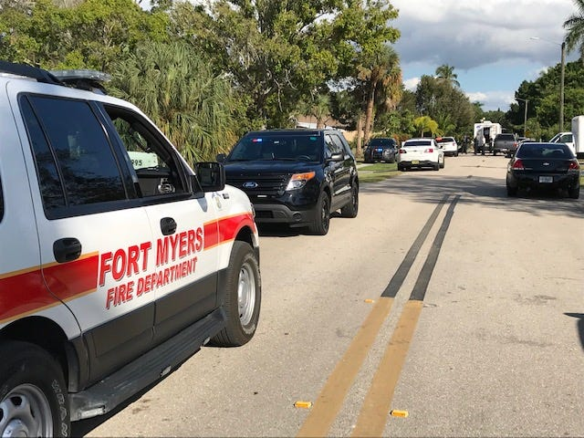 A heavy Fort Myers Police presence along with the Lee County Sheriff's Office bomb squad, Fort Myers fire units and ambulances were on Alhambra Drive between Cortez and McGregor boulevards.