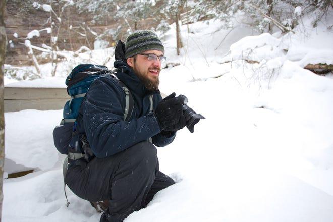 Dan Moore, while shooting at Pictured Rocks National Lakeshore.