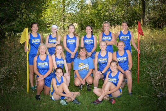Oconto Girls cross country team