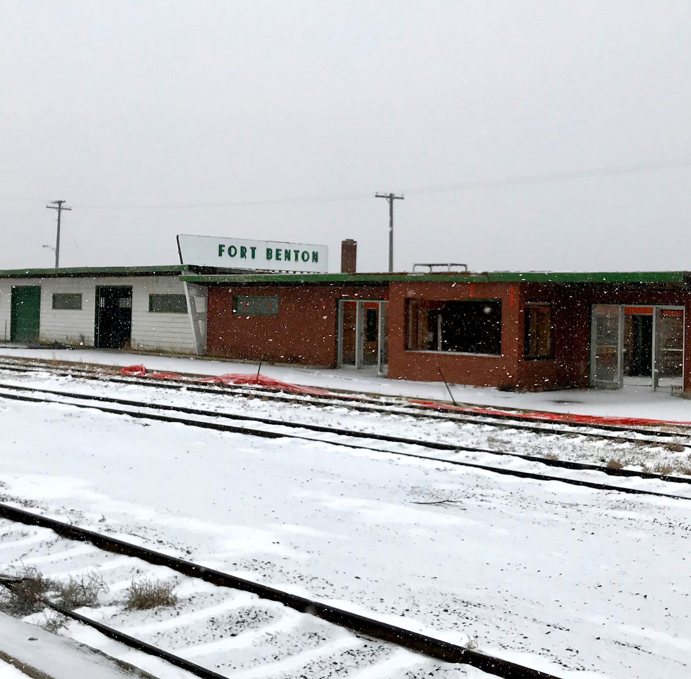 Fort Benton railroad depot coming down