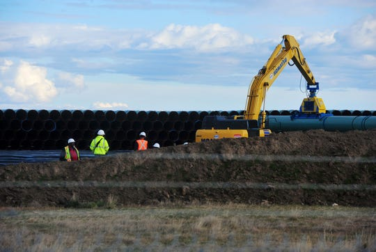 In October, pipe for the Keystone XL Pipeline was being stored in this pipe yard in Northern Phillips County in anticipation of the beginning of construction this year.