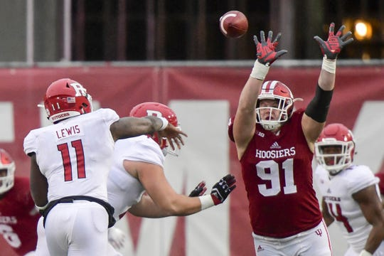 IU defensive lineman Jacob Robinson's senior year has been slowed by injury.