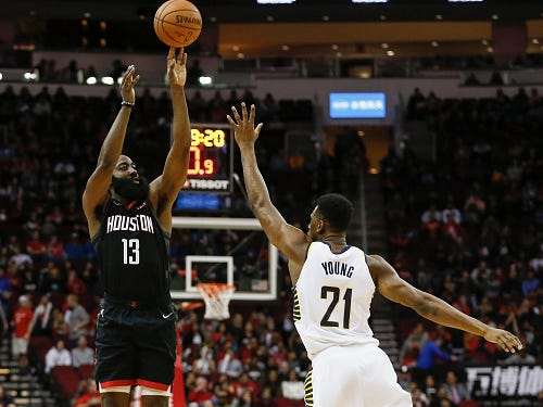 Pacers succumb to Rockets' 3-point barrage to end road trip