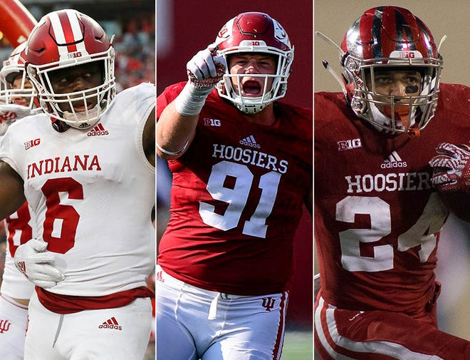 Left to right: Donavan Hale, Jacob Robinson and Mike Majette were all members of iU's 2015 recruiting class.