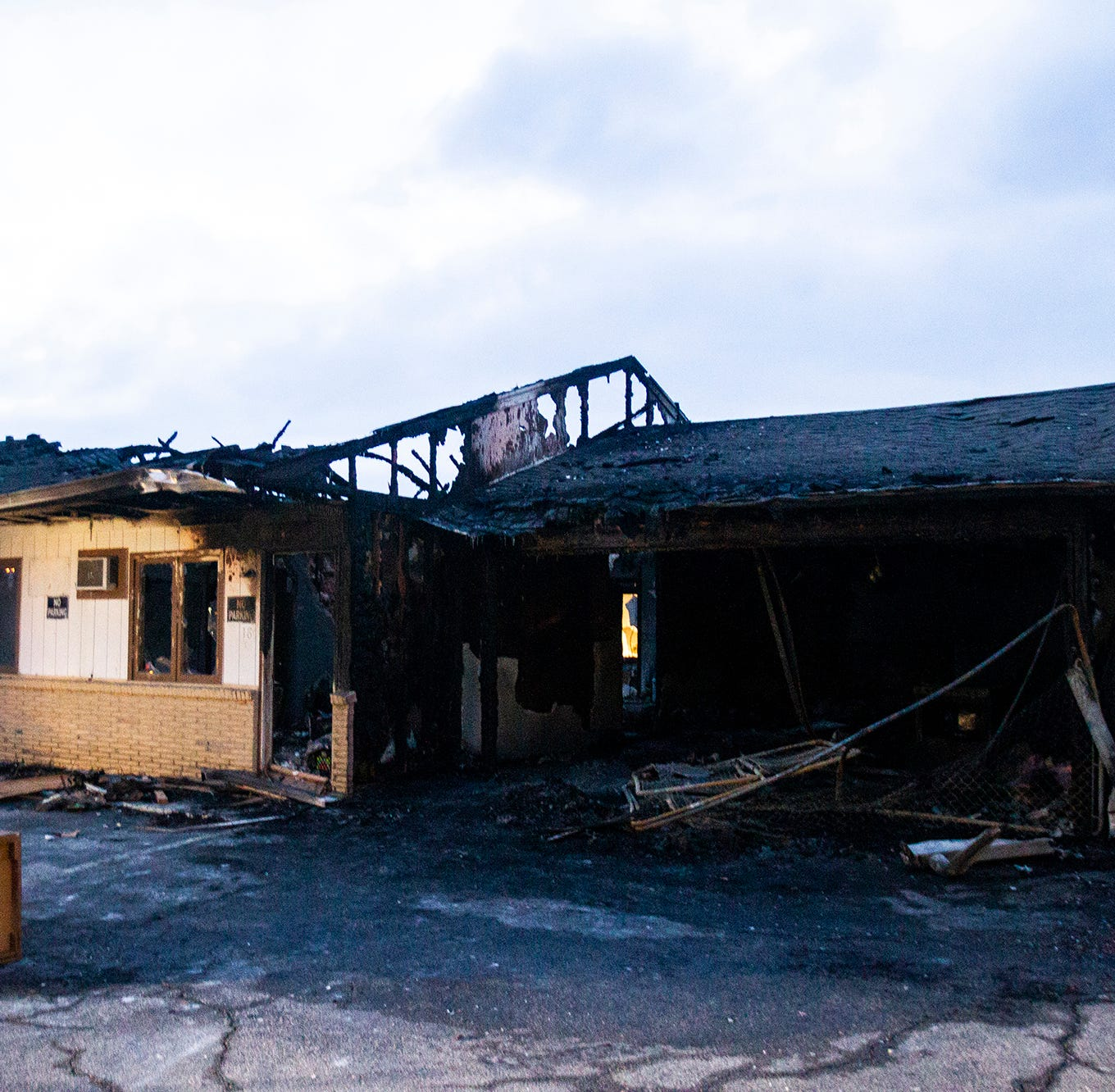 Coralville Fire investigating Monday's former Capri Lodge fire