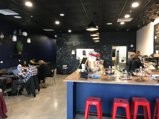 The interior of Good Vibes Cafe in Solon is shown on Nov. 12, 2018.