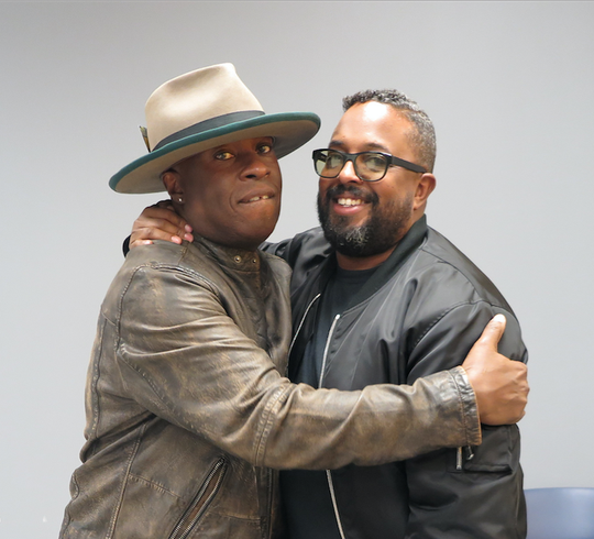 Members of Miles Davis' family, Vince Wilburn Jr., nephew, and Erin Davis, one of three sons, attended the public opening of the exhibit. They both shared some of their intimate experiences with the music legend.