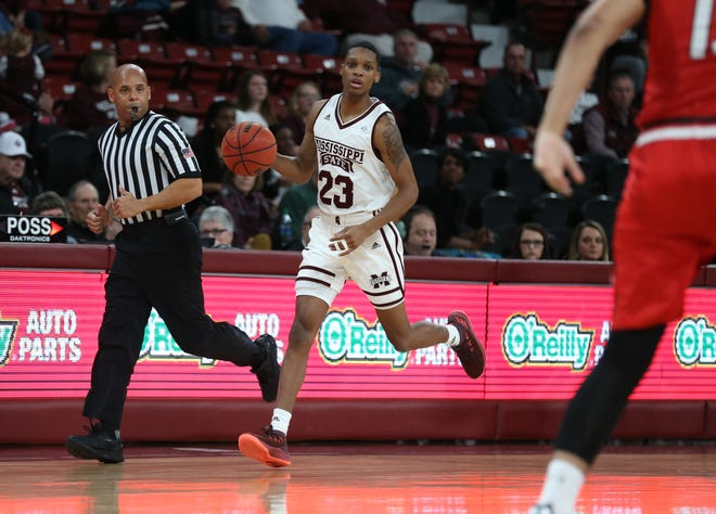 Junior guard Tyson Carter knocked down four threes in Mississippi State's 77-59 victory over Hartford on Sunday.