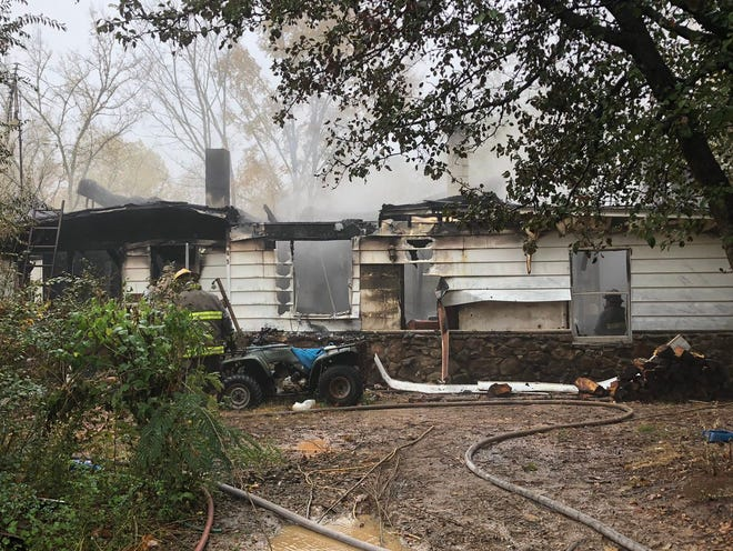 James H. Pruitte's home was destroyed in a fire on Nov. 3. He and the Madison County Fire Department credit his smoke alarm for alerting him to the fire and saving his life.