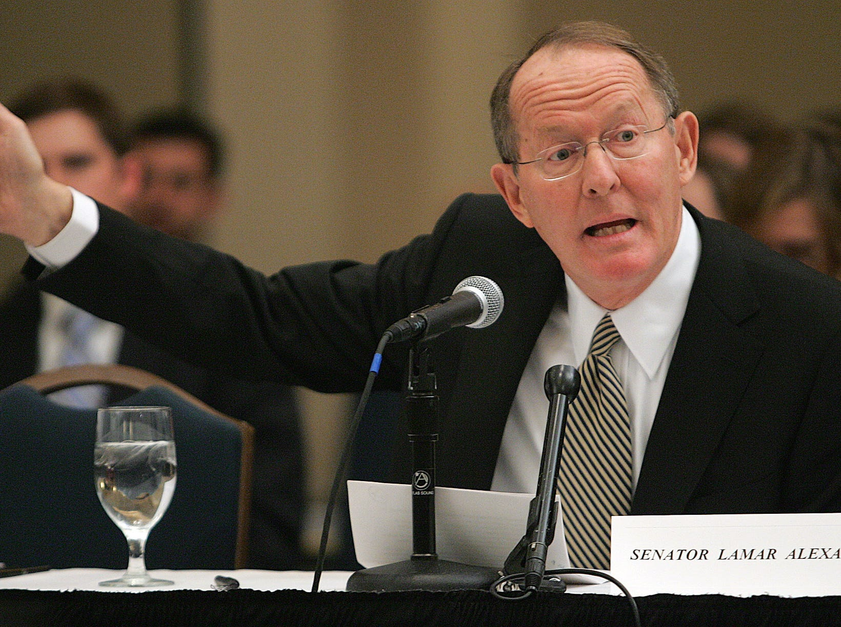 Sen. Lamar Alexander, R-Tenn., testifies before the Commission On The Future of Higher Education in Nashville, Tenn., Friday, Dec. 9, 2005.