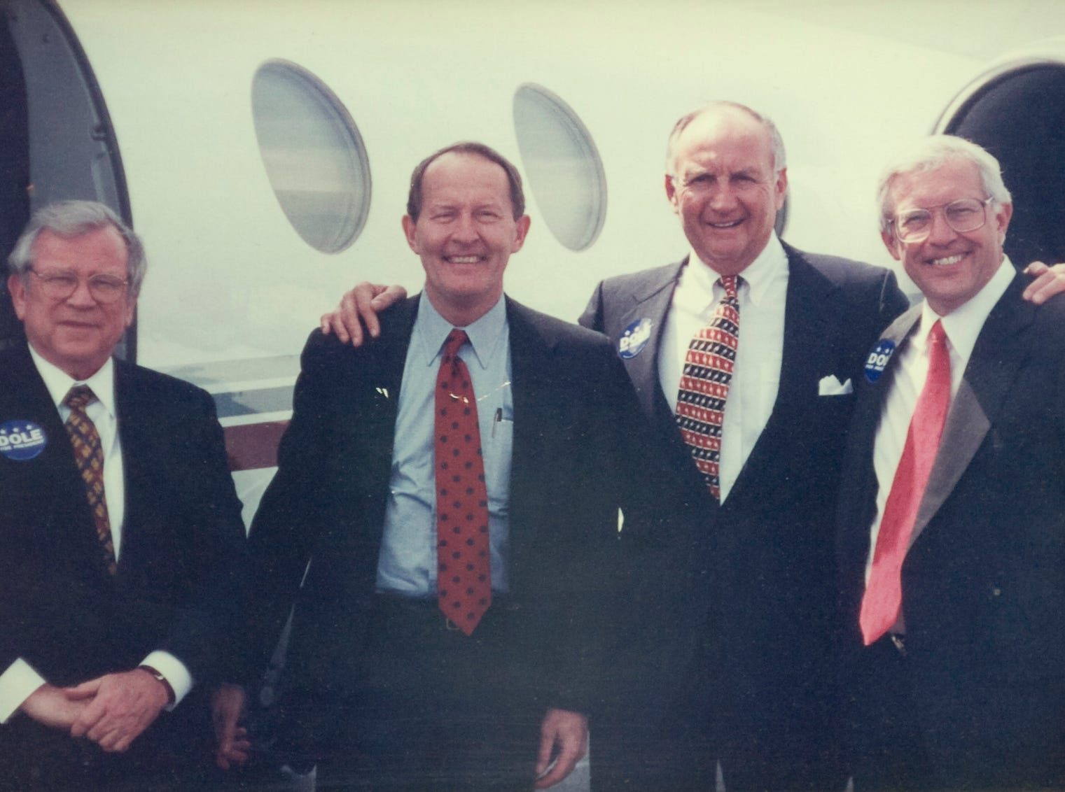 Former Senate Majority Leader, Republican U.S. Senator from Tennessee Howard Baker, Senior United States Senator from Tennessee and Conference Chair of the Republican Party Lamar Alexander (left) with Pilot Corp. Founder and Chariman Jim Haslam (center) and former TN governor and congressman Don Sundquist (right). Photos submitted by Haslam Family