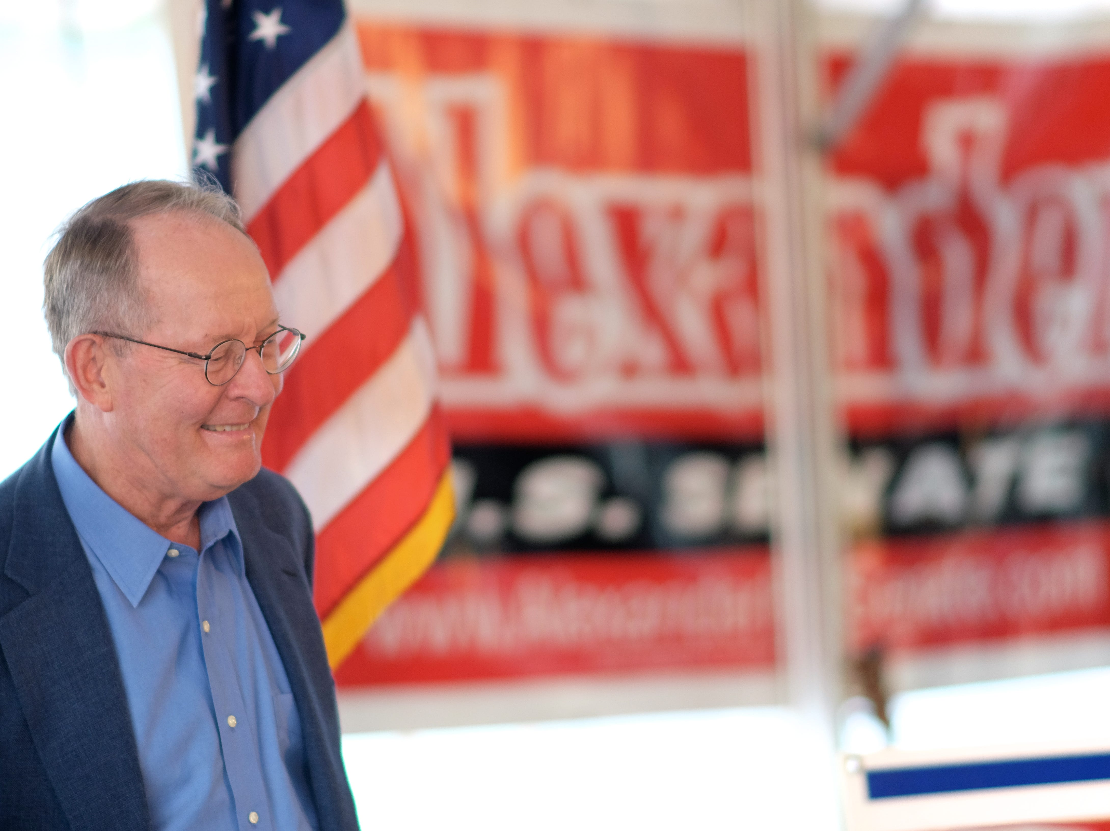 US Senator Lamar Alexander is pictured during the Get Out the Vote Rally Tuesday, October 14, 2014 at Springbrook Park in Alcoa, Tenn.