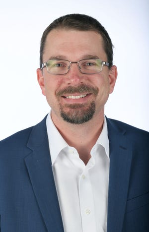 Matt Basford, a 40 Under 40 honoree, Wednesday, Nov. 7, 2018 at the News Sentinel.