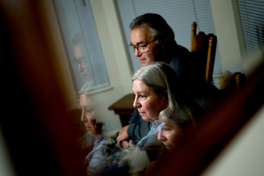 Janie Clark and her husband, Ansol, talk with fellow coal ash cleanup workers at their home in Knoxville on Thursday, Nov. 8, 2018. A federal jury ruled in favor of hundreds of blue-collar laborers who say they were sickened during the Kingston coal ash spill cleanup operation and Jacobs Engineering endangered their health and safety.