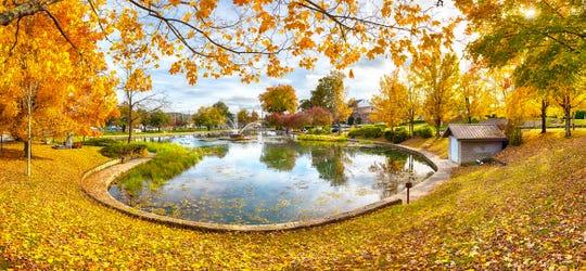 Fountain City Lake reflects the beauty of fall on Nov. 6, 2018.