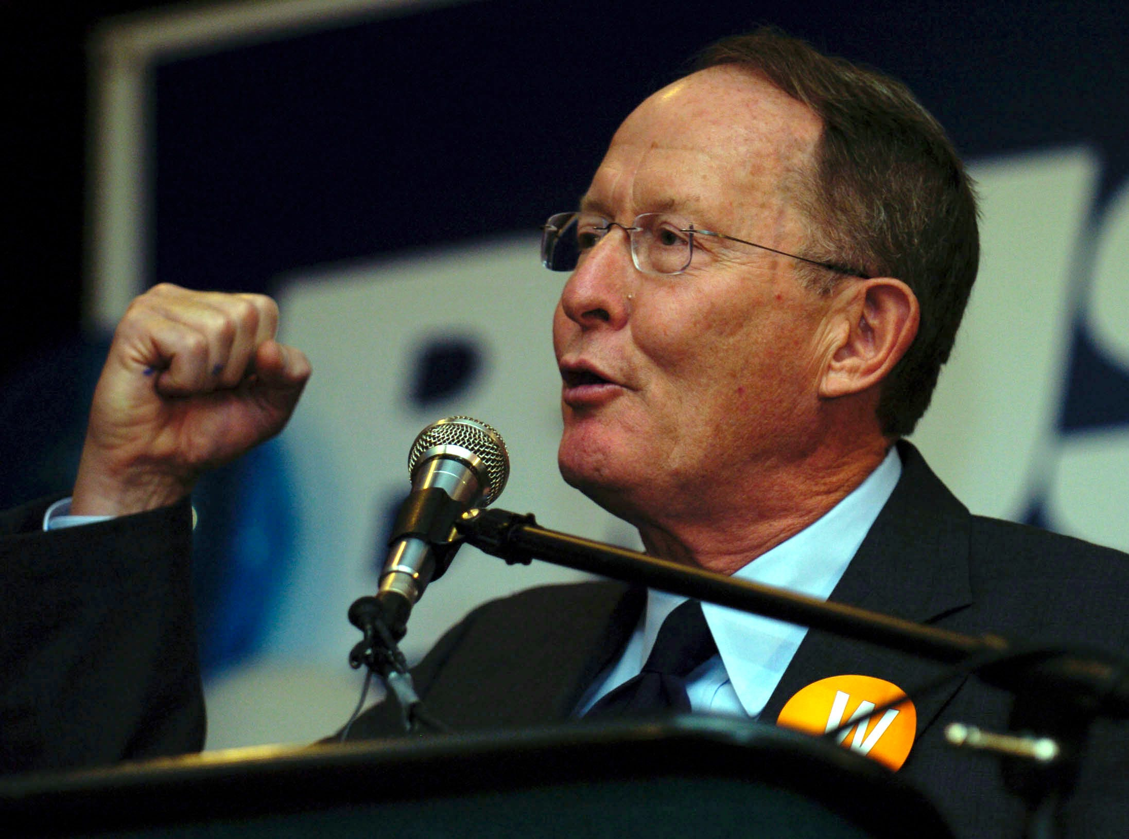 TN Senator Lamar Alexander speaks during the Knox County Republican Party celebration held at the Hilton Hotel in downtown Knoxville.