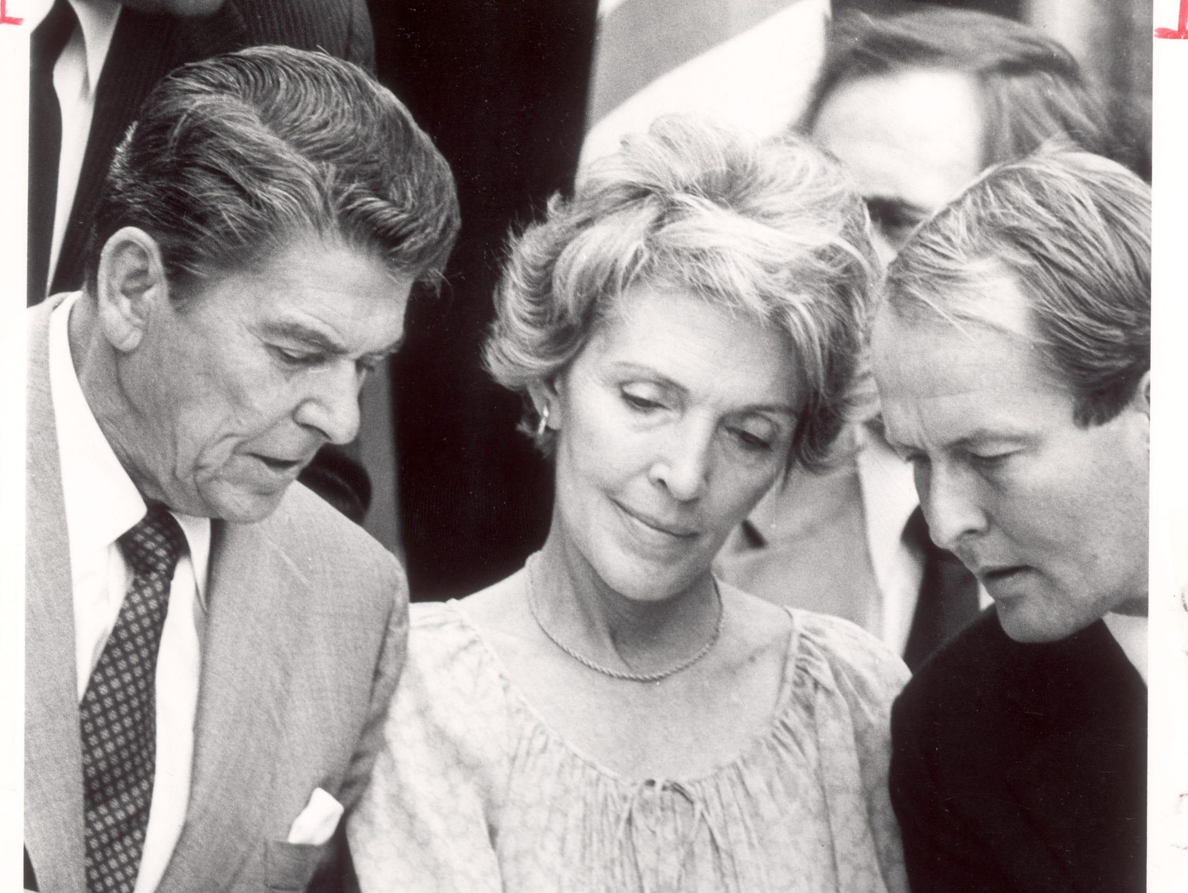 New Sentinel File Photo:published Sep 21/23, 1980. President Ronald Reagan (Knoxville Visit), Gov. Lamar Alexander.