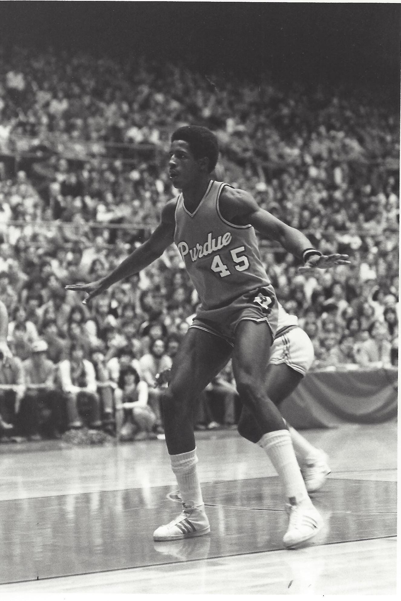 Arnette Hallman is best remembered by Purdue fans for his jumping ability and his game-winning shot against No. 1 Michigan State in 1979.