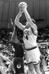 Purdue center Craig Riley  scored the go-ahead basket in an upset of No. 4 Indiana in 1992.