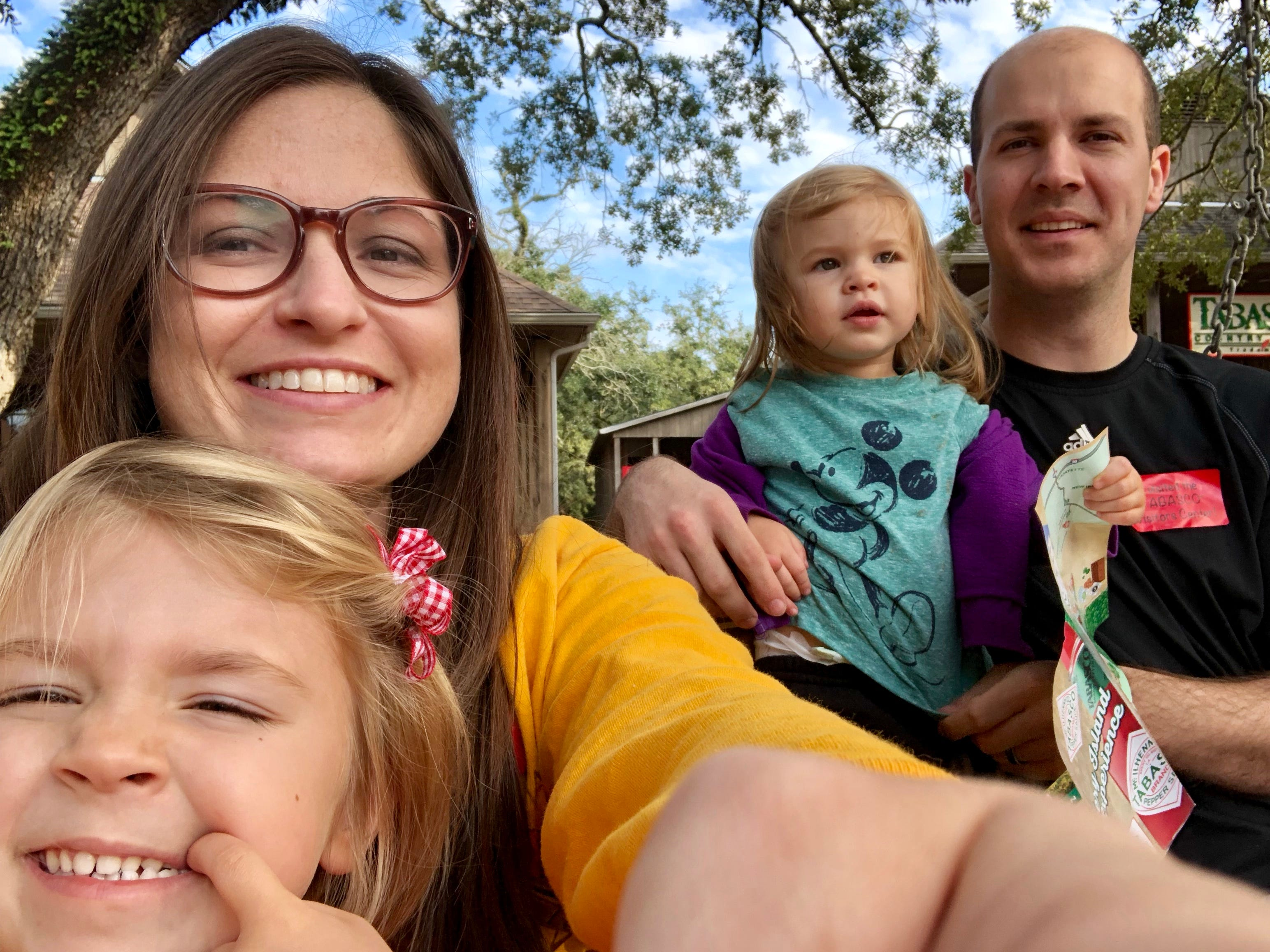 Travel and tourism reporter Leigh Guidry and family tour Tabasco at Avery Island during their trip along the Bayou Teche Byway.