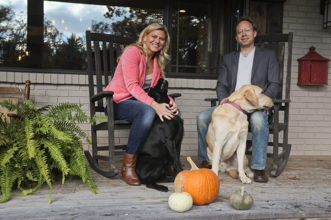 Hope and Jason Nelson with MIcah and Leia at their home in Louisville, KY. Nov. 6, 2018