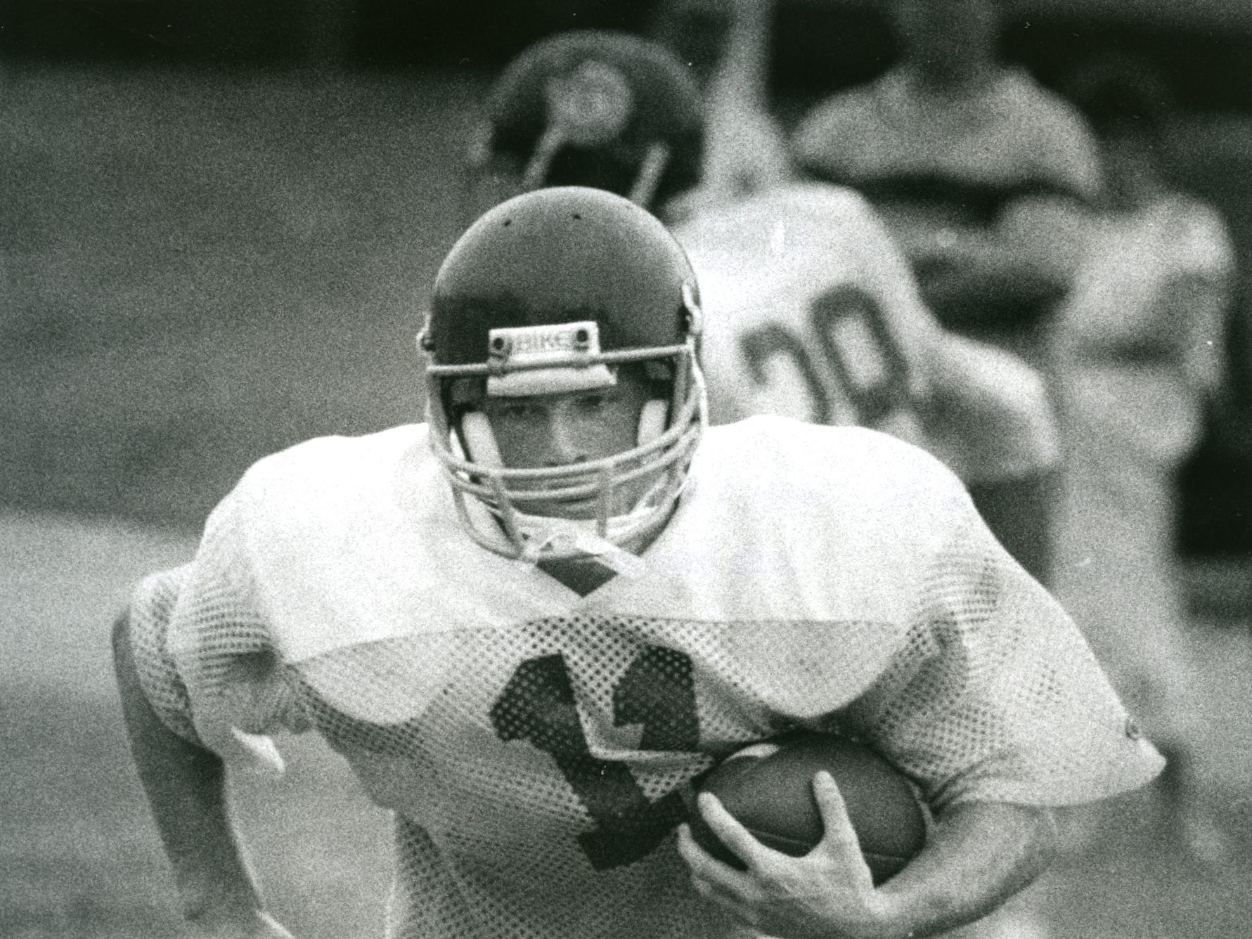 Jeff Brohm had an All-State career as Trinity's quarteback.