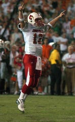 Brian Brohm served as Bobby Petrino's starting quarterback at Louisville from 2004-06.