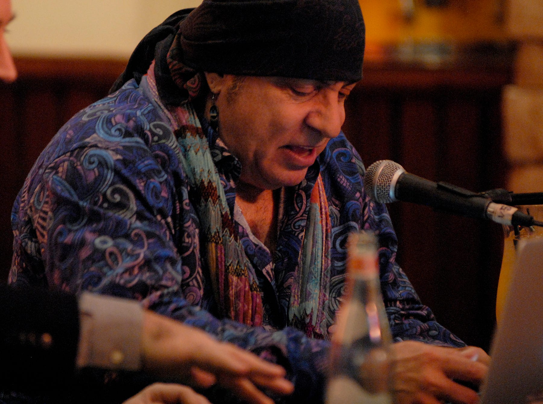 """Steven Van Zandt, of Little Steven and the Disciples and founding member of Bruce Springsteen's E Street Band, hosted his radio show """"Little Steven's Underground Garage"""" for Sirius XM Radio at The Hard Rock Cafe on Fourth Street Live!.  July 30, 2018"""