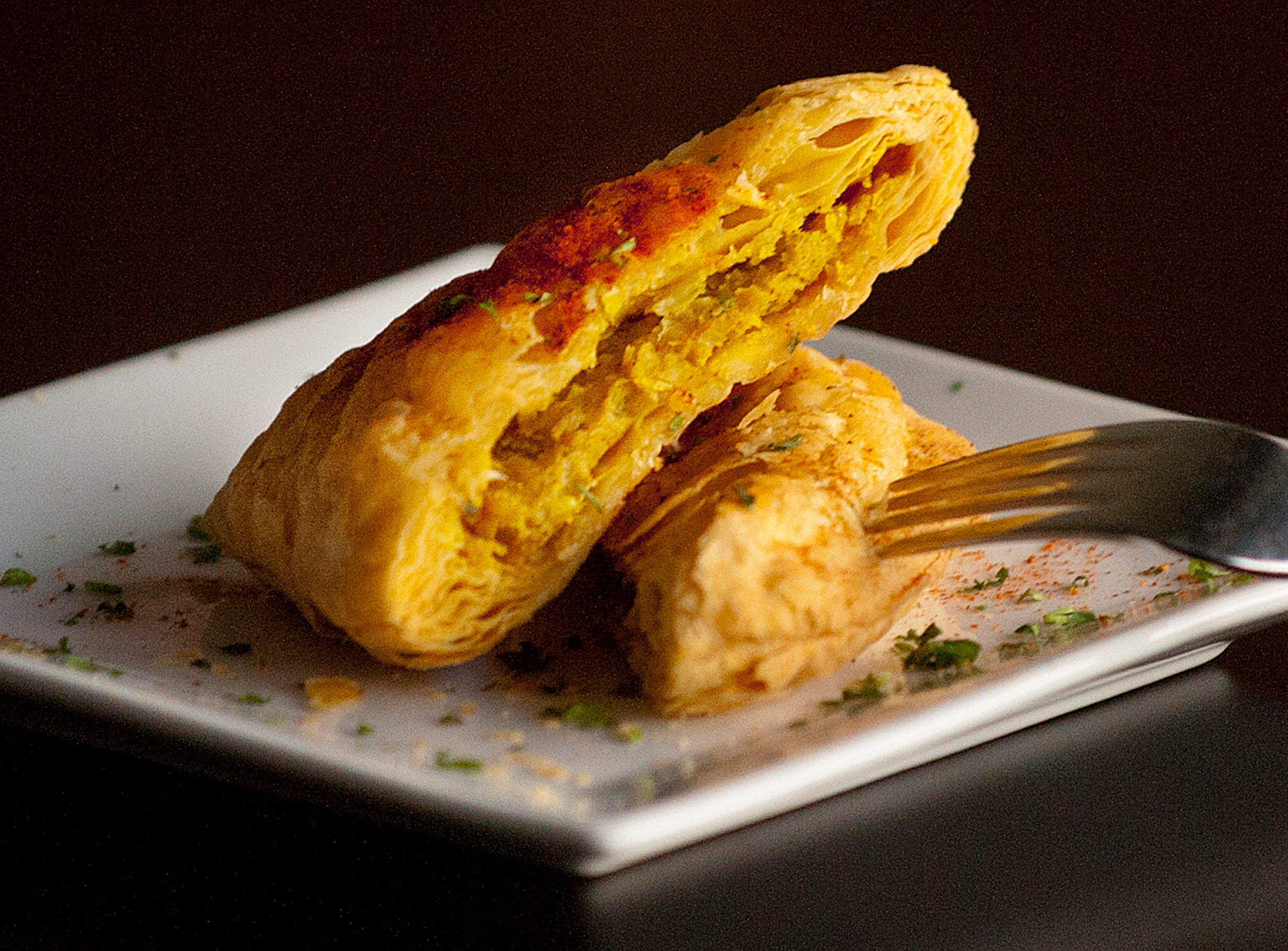 The Flavour Restaurant's Jamaican Pattie is a puff pastry filled with chicken and Caribbean curry spice filling.November 08, 2018