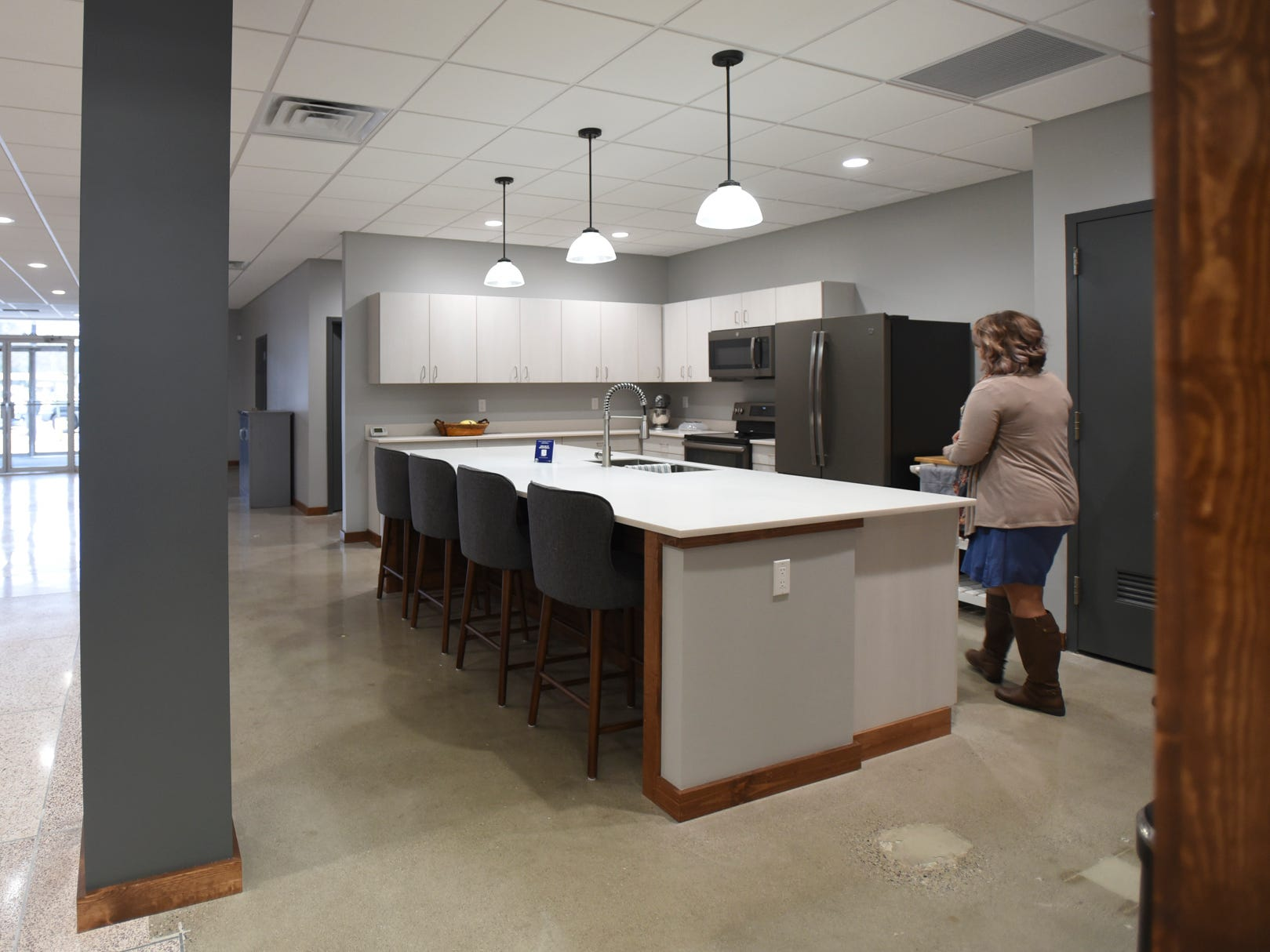 The kitchen at the offices of Doolittle & Associates - An Ameriprise Financial Services, Inc. practice at 122 S. Cochran Ave. in downtown Charlotte on Monday, Nov. 12, 2018.