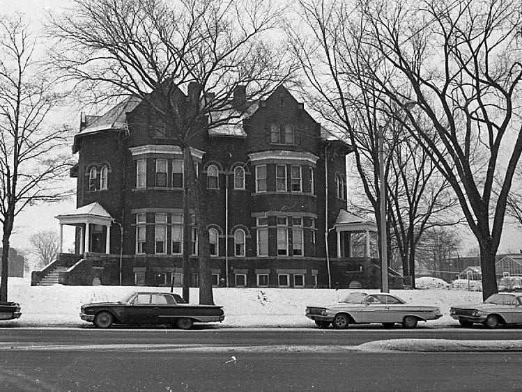 This 1968 photo shows one of the campus buildings at the Boys Training School in Lansing. Established in 1856, the school served as a reform school for boys until it closed in 1972.