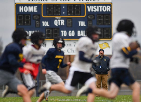 Westphalia native Jeremy Miller, 38, finished in November his sixth season as Pewamo-Westphalia's football coach. Miller is expected to welcome back 35 varsity players next season.