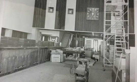 A photo of the interior of 122 S. Cochran Ave. in Charlotte in 1960 when the building was built. Today it's been re-imagined.