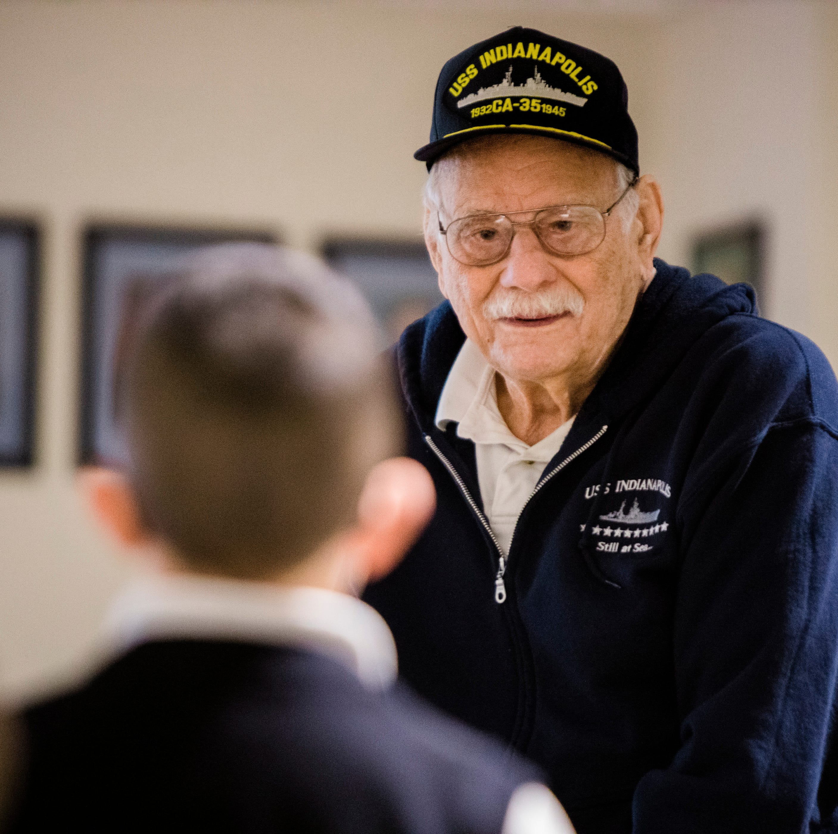 Putnam: 'Don't give up,' WWII veteran who survived shark-infested waters tells kids