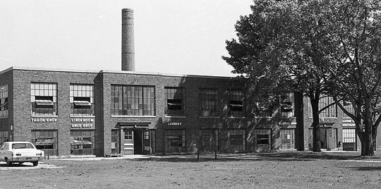One of the buildings at the Boys Training School in Lansing 1971. Established in 1856, the school served as a reform school for boys until it closed in 1972.