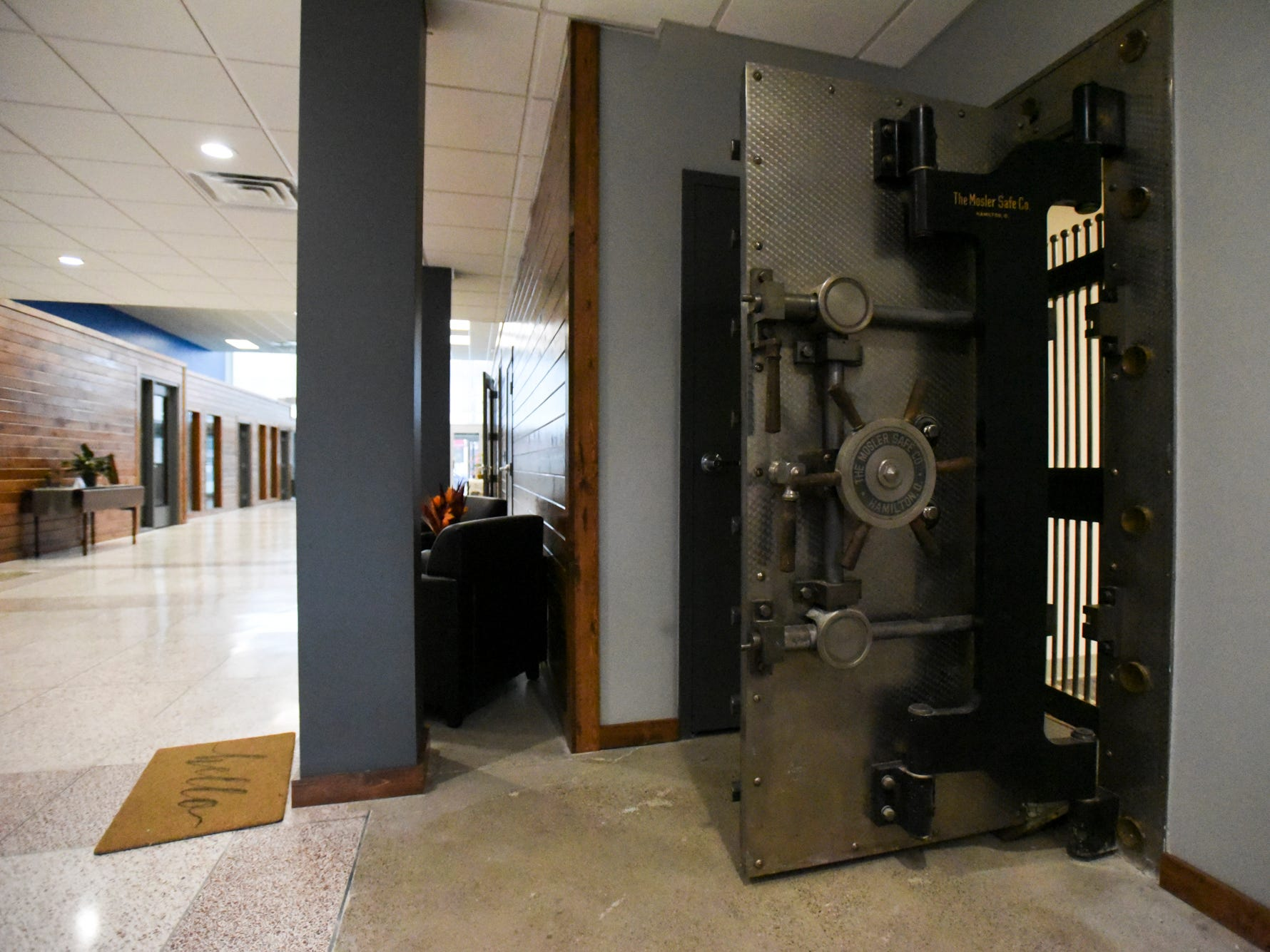 A vault stands open at the offices of Doolittle & Associates - An Ameriprise Financial Services, Inc. practice at 122 S. Cochran Ave. in downtown Charlotte on Monday, Nov. 12, 2018.