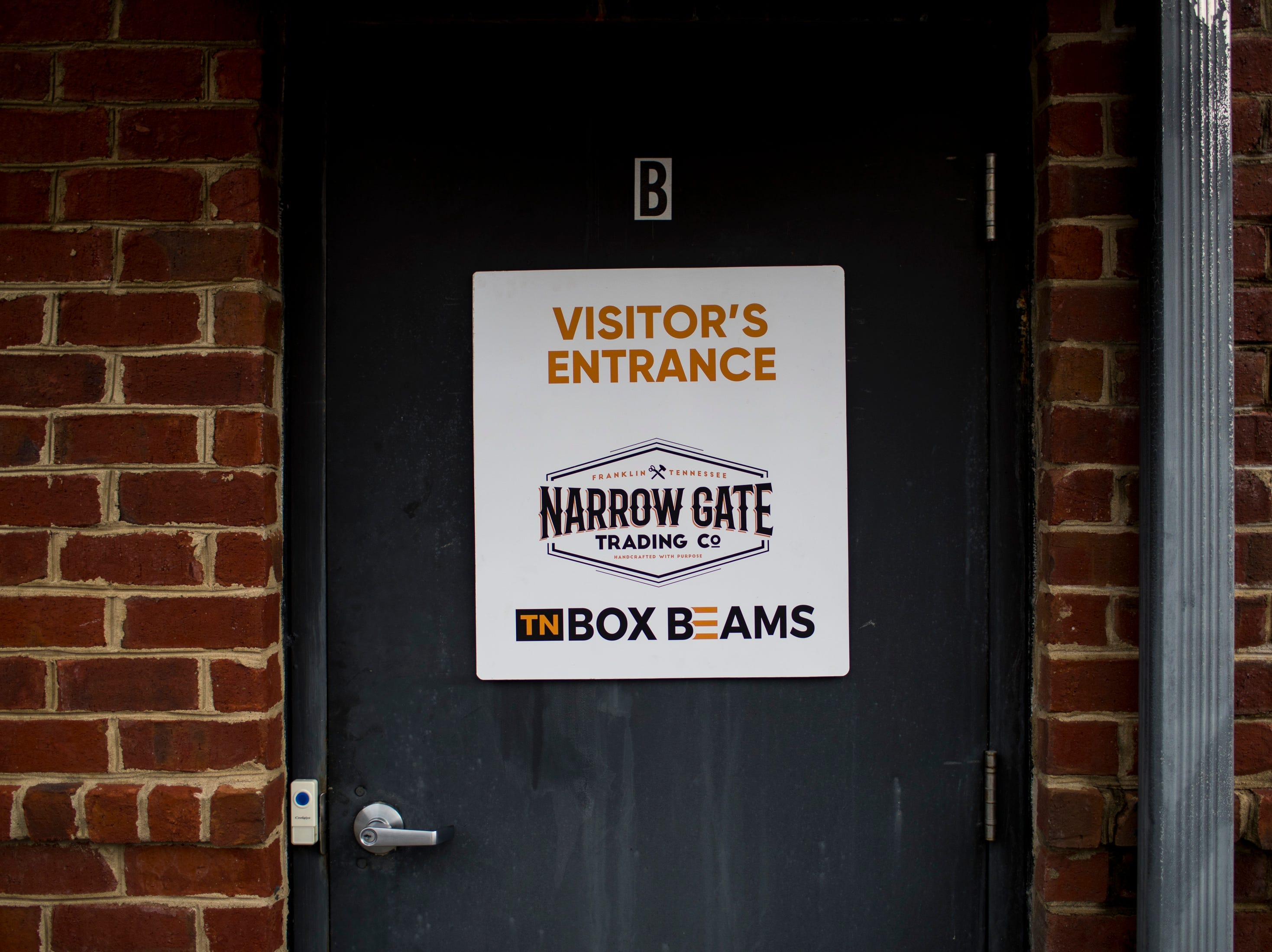 The entrance to TN Box Beam in Franklin on Friday, Nov. 9, 2018. TN Box Beam will be featured on the HGTV show Property Brothers Buying + Selling on Nov. 14.