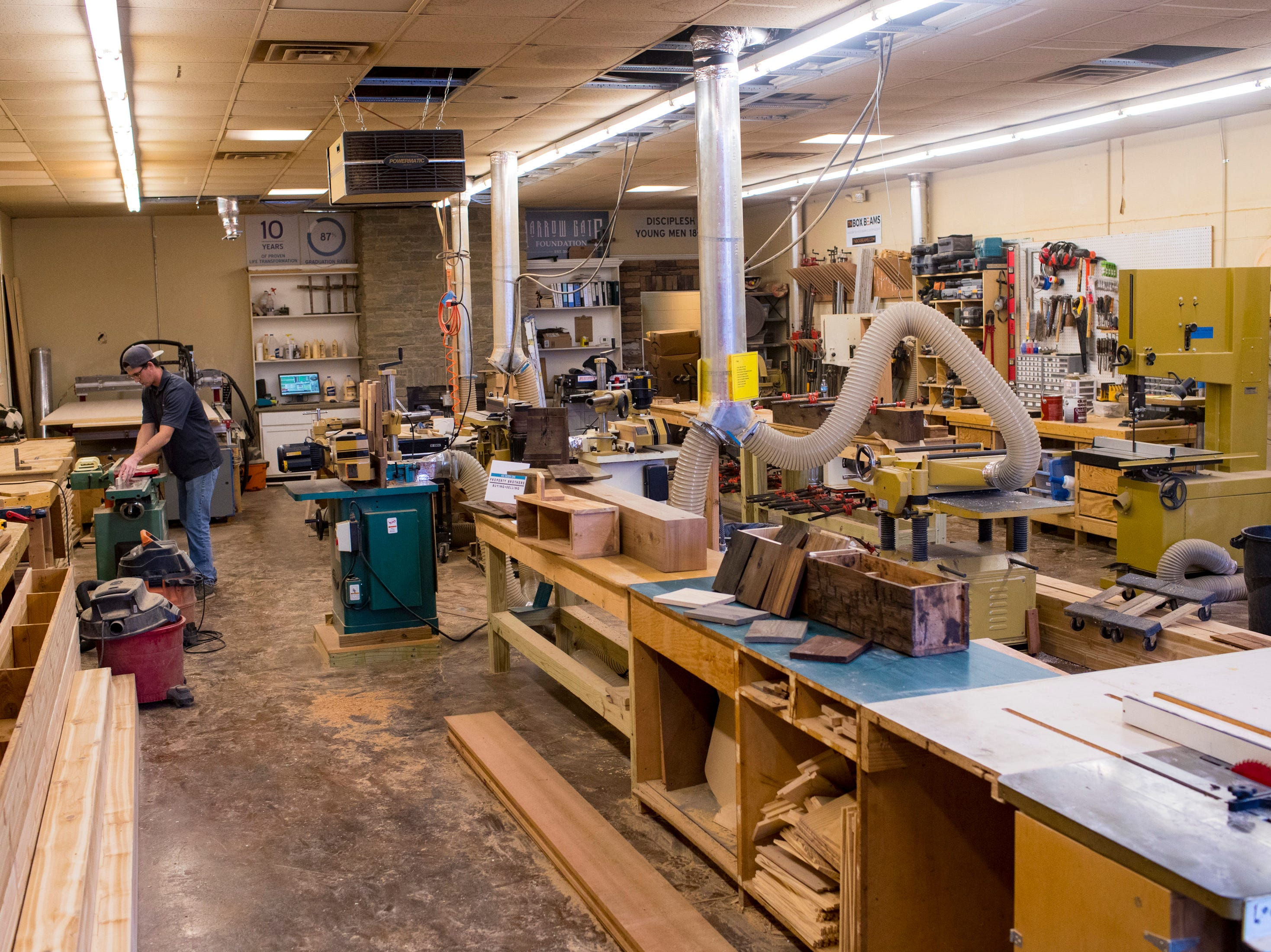 The woodworking shop at TN Box Beam in Franklin on Friday, Nov. 9, 2018. TN Box Beam will be featured on the HGTV show Property Brothers Buying + Selling on Nov. 14.