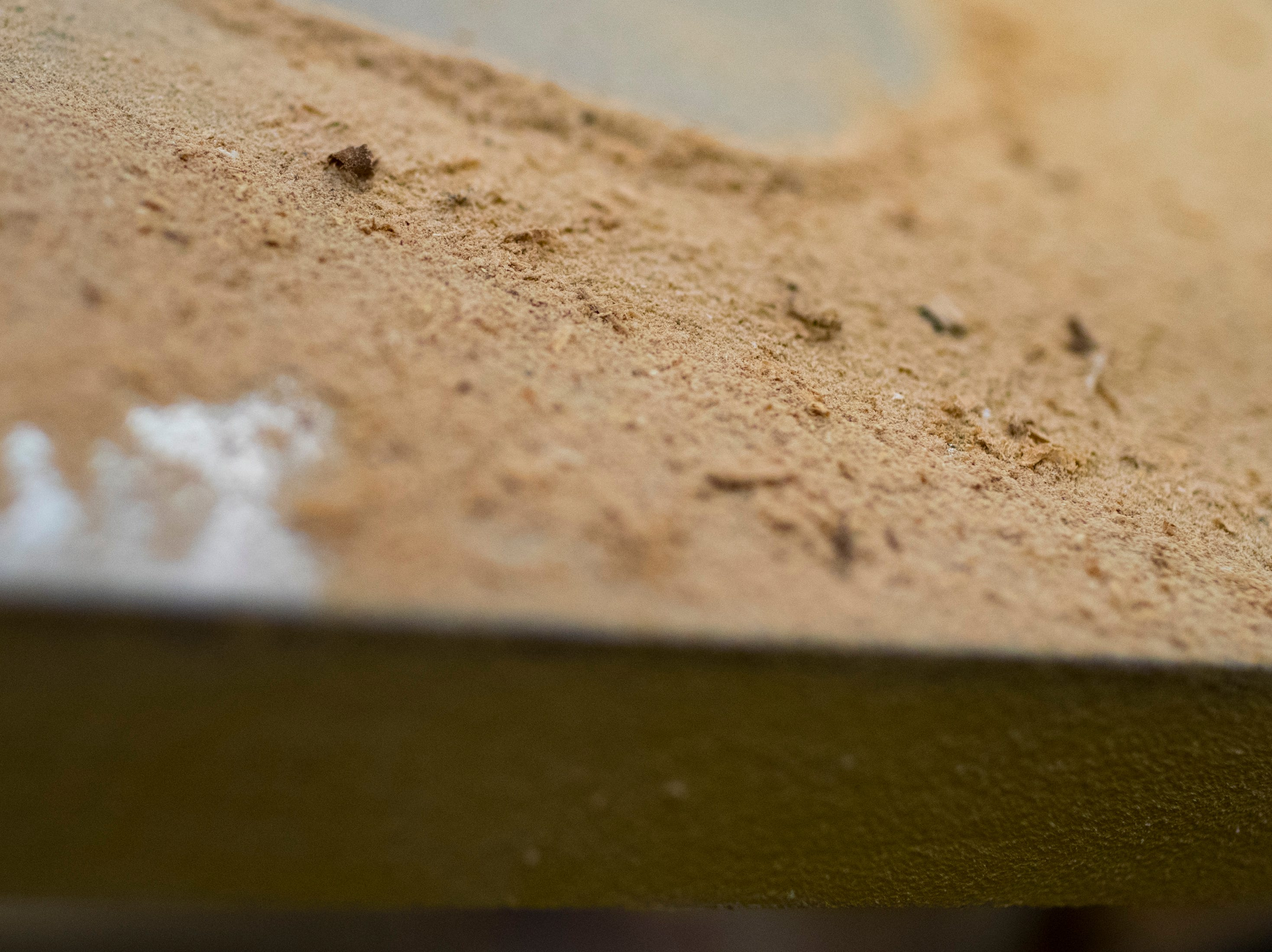 Saw dust collects on a  piece of equipment at TN Box Beam in Franklin on Friday, Nov. 9, 2018. TN Box Beam will be featured on the HGTV show Property Brothers Buying + Selling on Nov. 14.