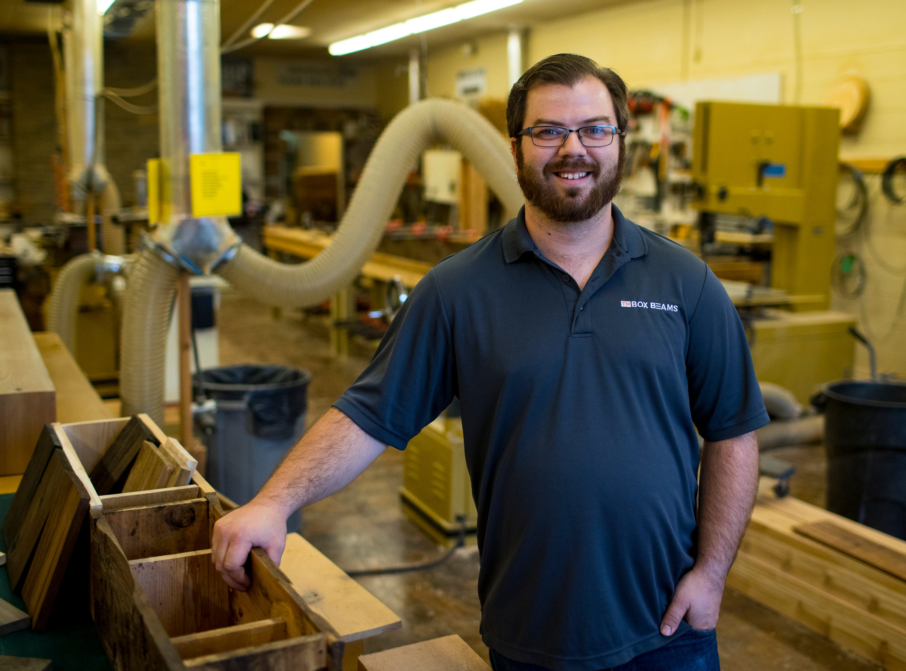 TN Box Beams representative Kenny Bowling at TN Box Beam in Franklin on Friday, Nov. 9, 2018. TN Box Beams will be featured on the HGTV show Property Brothers Buying + Selling on Nov. 14.