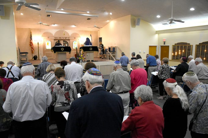 The Jewish Congregation of Marco Island held a Shabbat service Friday evening marking the 80th anniversary of Kristallnacht, when Nazi Germany brought perseution of Jews out into the open.