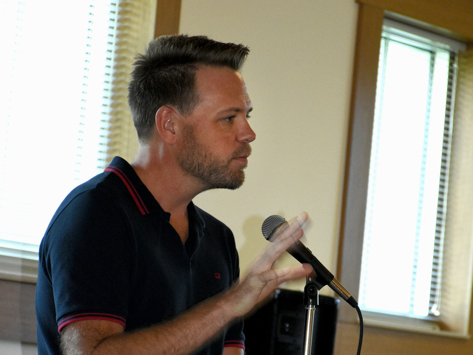 Bestselling author and FGCU professor Nathan Hill speaks. The Collier County public library system hosted an author fair Saturday at the South Regional library branch, with nearly four dozen local writers and talks from two eminent authors.