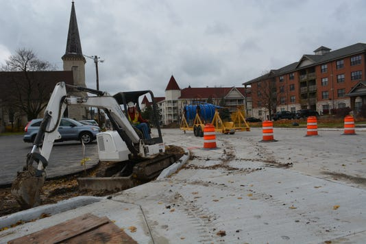 Main Street Roadwork 1