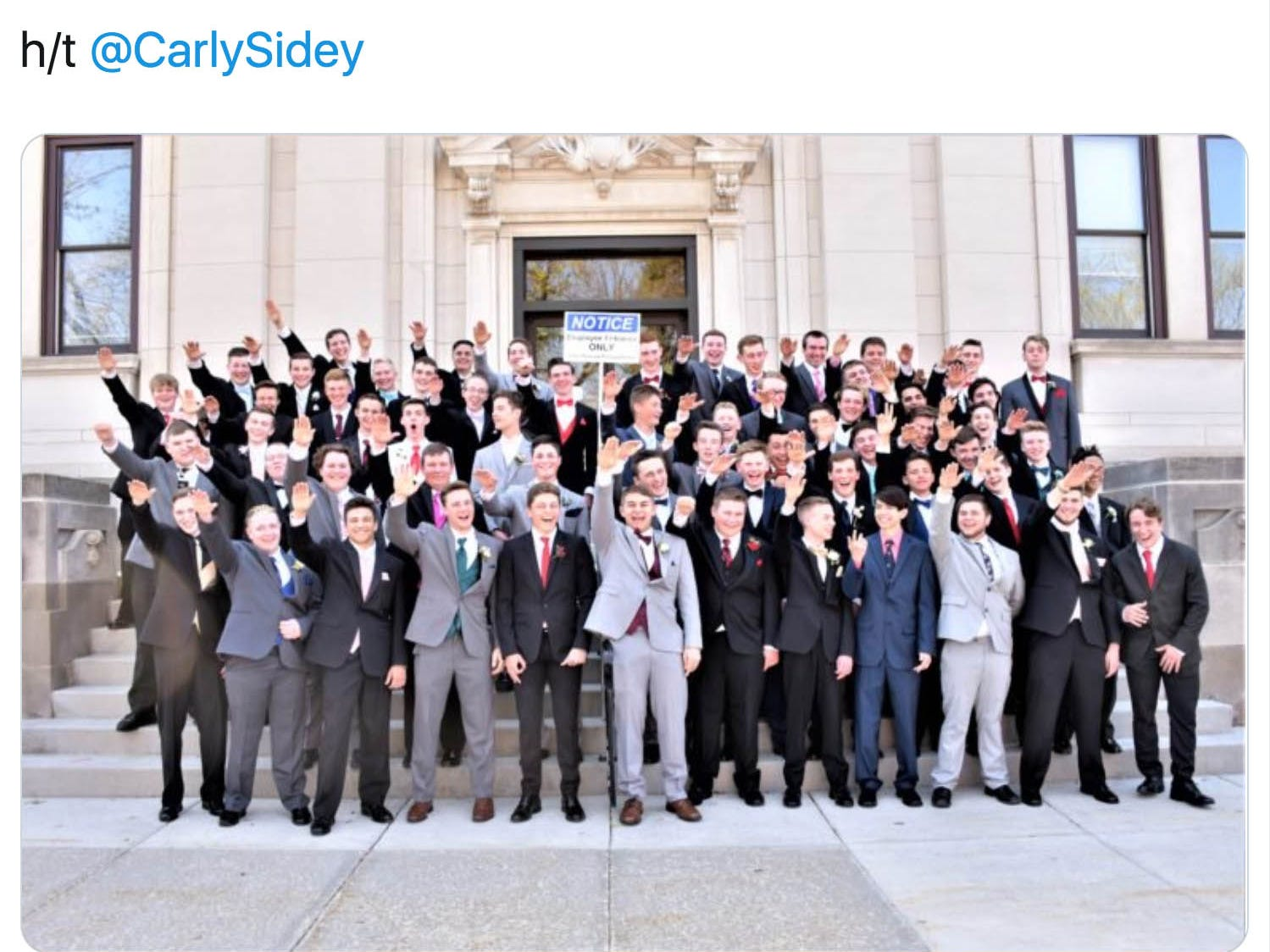 'This isn't who we are': Viral Nazi salute photo of Wisconsin high school promgoers draws widespread condemnation